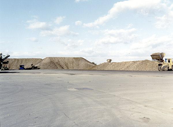 Lagerplatz für Zuckerrüben
